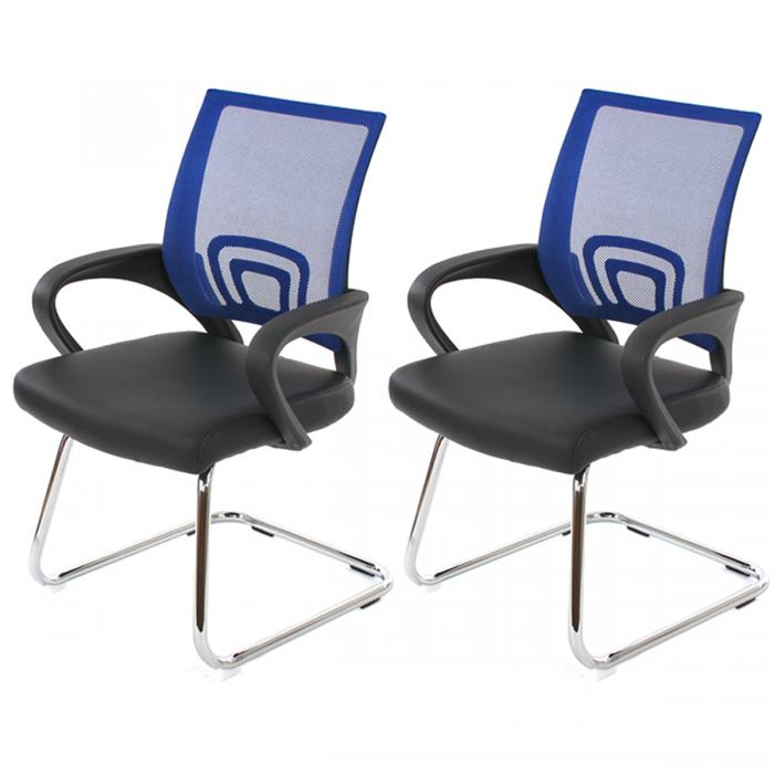 besucherstuhl kunstleder blau bestseller shop f r m bel. Black Bedroom Furniture Sets. Home Design Ideas
