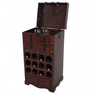 Weinregal Calvados T251, Flaschenregal Regal Holzregal, f�r 12 Flaschen Kolonialstil 85,5x46x37 cm