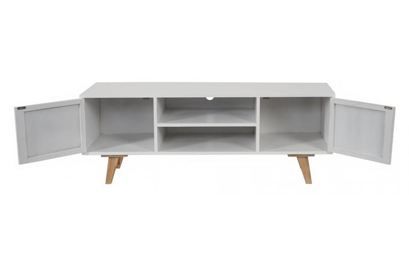 Tv rack weis m bel und heimat design inspiration for Fernsehtisch design