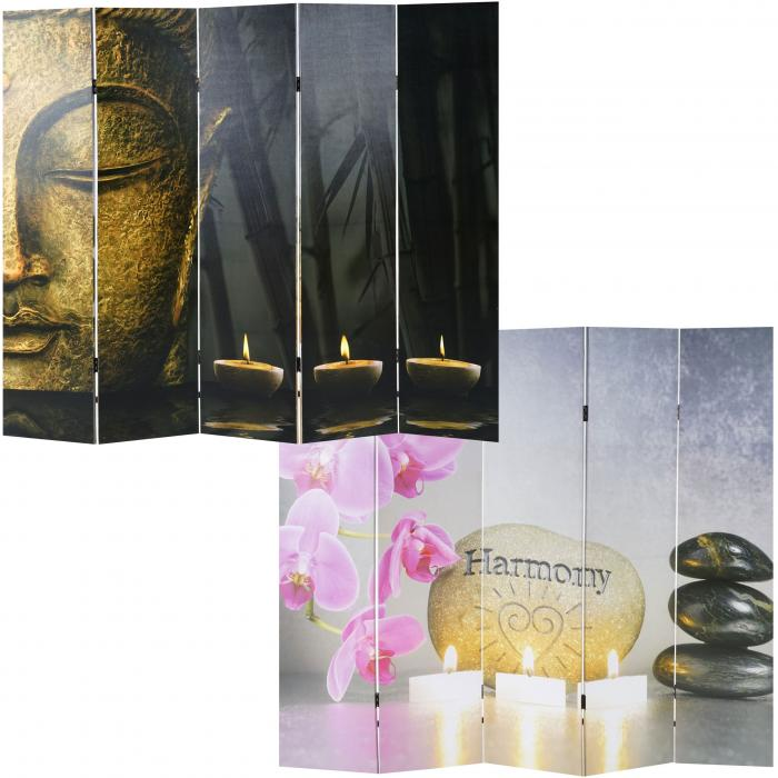 foto paravent buddha paravent raumteiler trennwand 180x200 cm. Black Bedroom Furniture Sets. Home Design Ideas