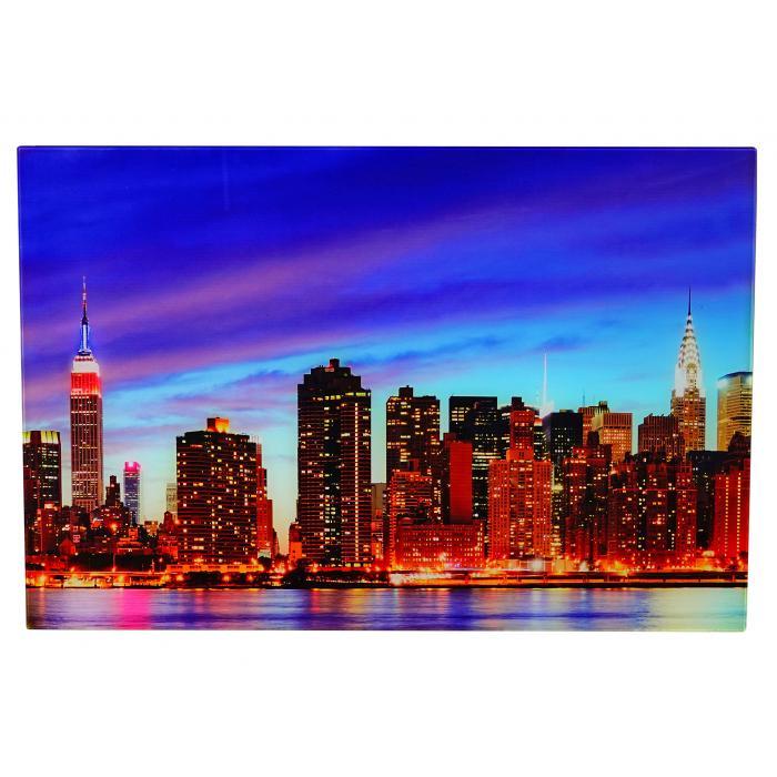 glasbild t116 wandbild poster motiv 40x60cm new york. Black Bedroom Furniture Sets. Home Design Ideas