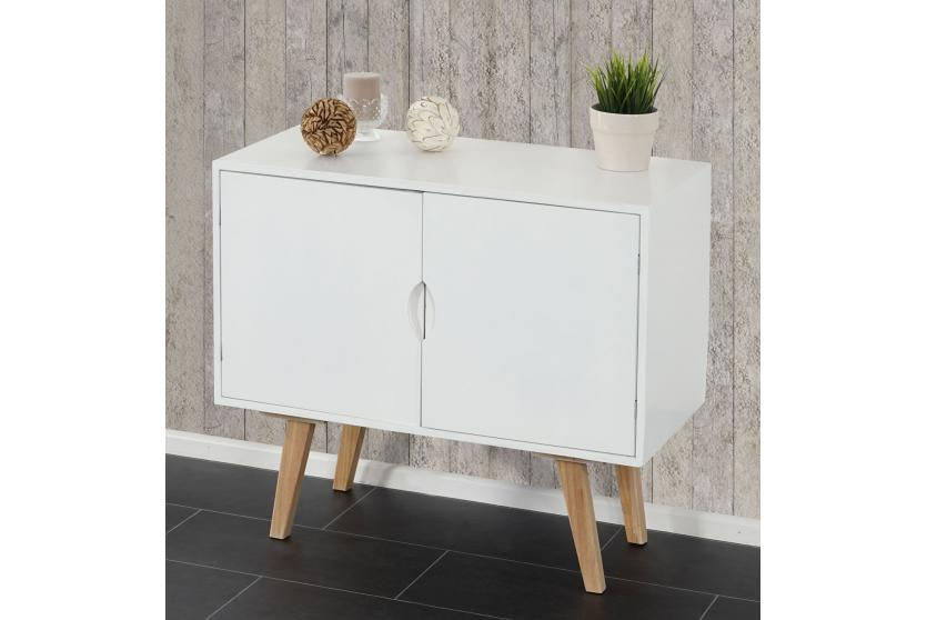 kommode vaasa t292 schrank sideboard retro design 70x80x40cm wei e front ebay. Black Bedroom Furniture Sets. Home Design Ideas