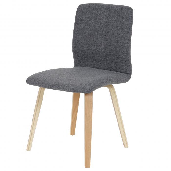 6x esszimmerstuhl bendorf stuhl lehnstuhl retro helle beine textil grau. Black Bedroom Furniture Sets. Home Design Ideas
