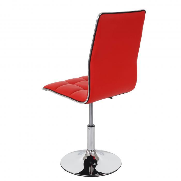 2x esszimmerstuhl hwc c41 stuhl lehnstuhl h henverstellbar drehbar kunstleder rot. Black Bedroom Furniture Sets. Home Design Ideas