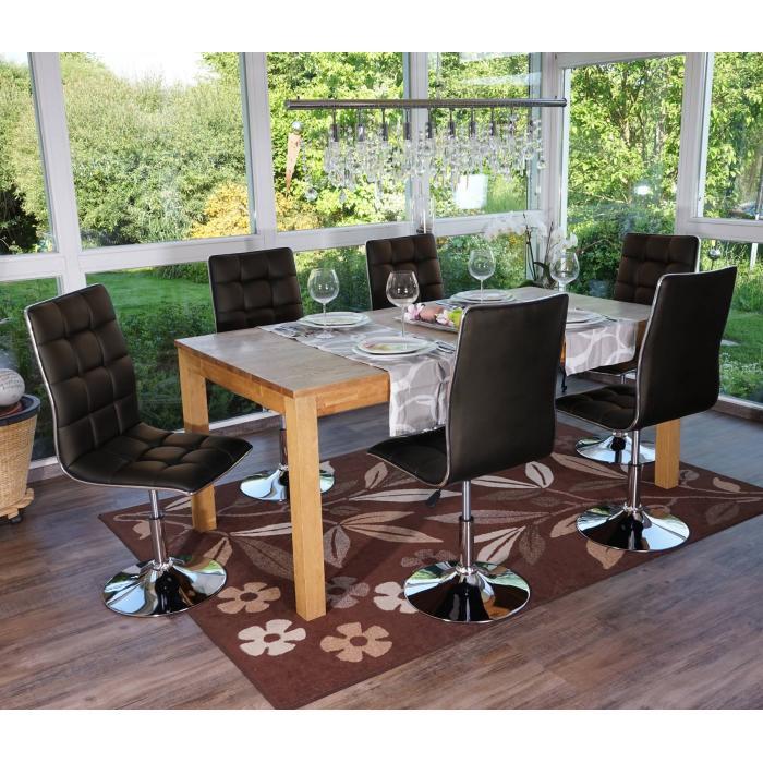 6x esszimmerstuhl hwc c41 stuhl lehnstuhl kunstleder braun. Black Bedroom Furniture Sets. Home Design Ideas