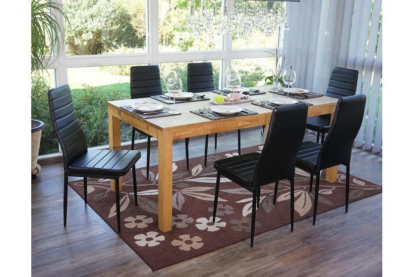 6x esszimmerstuhl lamego stuhl lehnstuhl kunstleder schwarz ebay. Black Bedroom Furniture Sets. Home Design Ideas