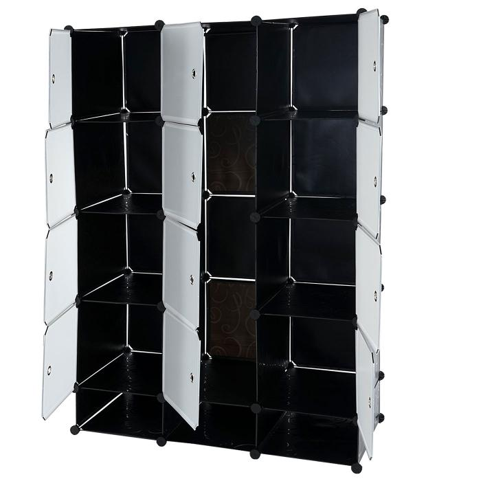 regalsystem sydney t306 steckregal garderobe kleiderschrank 8 boxen je 37x37x47cm schwarz. Black Bedroom Furniture Sets. Home Design Ideas