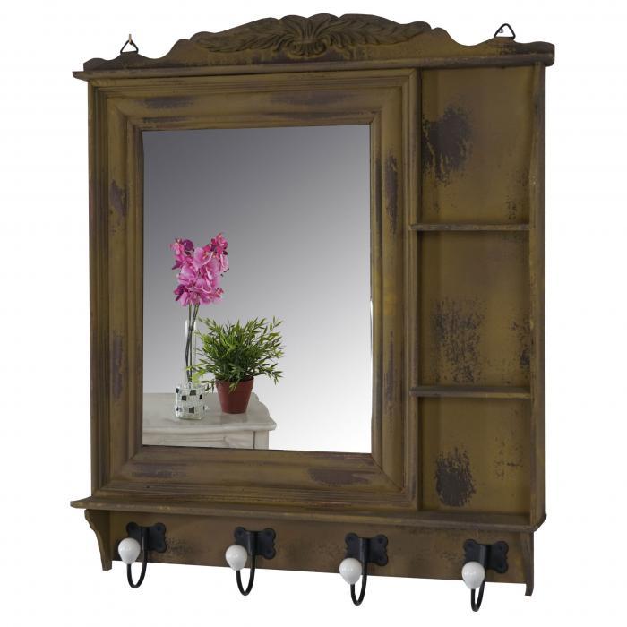 garderobe kanata wandgarderobe mit spiegel 75x63x9cm. Black Bedroom Furniture Sets. Home Design Ideas
