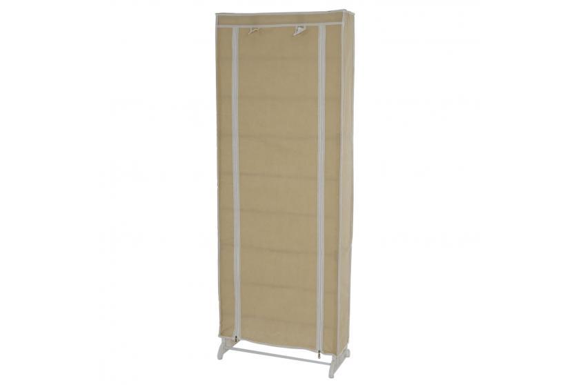 schuhschrank stoff campingschrank faltschrank 140x52x18cm creme ebay. Black Bedroom Furniture Sets. Home Design Ideas