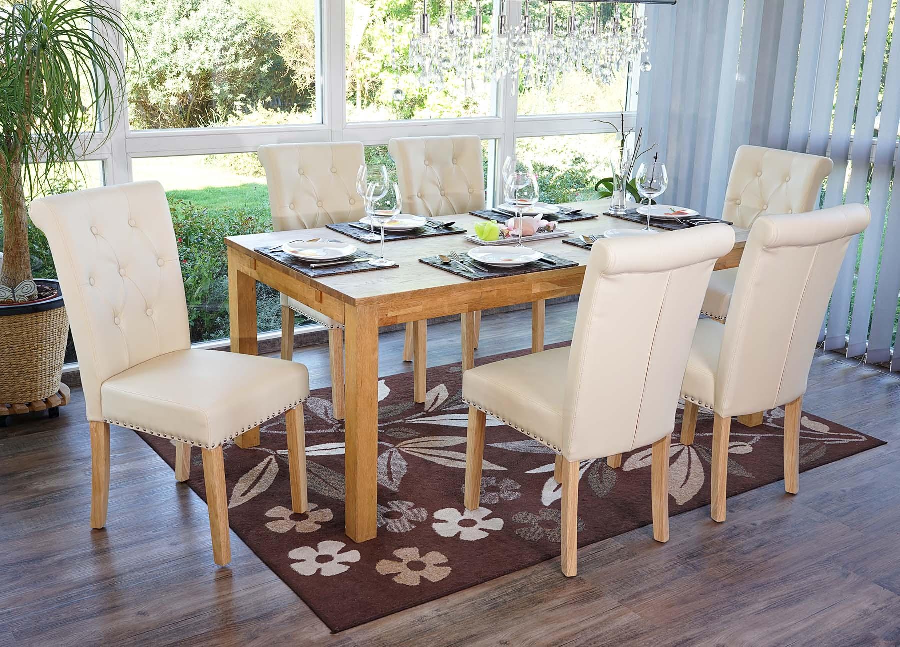 6x esszimmerstuhl chesterfield ii stuhl lehnstuhl mit nieten kunstleder ebay. Black Bedroom Furniture Sets. Home Design Ideas