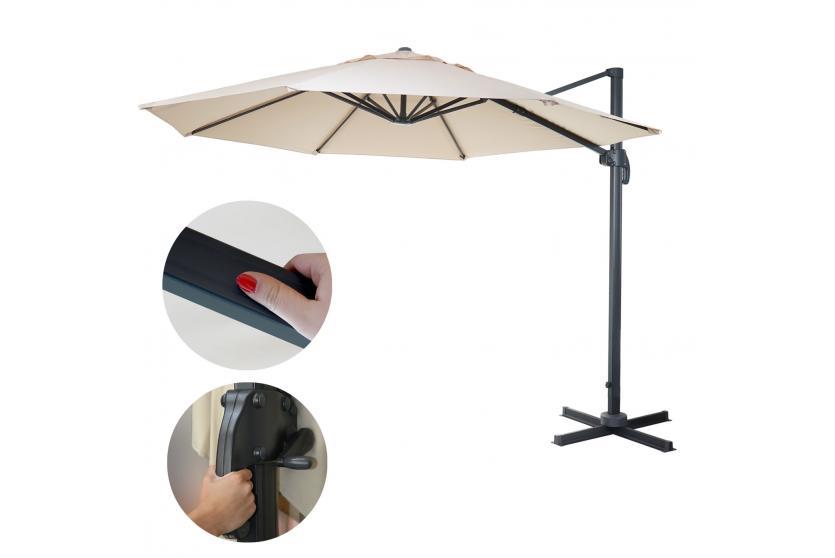 gastronomie luxus ampelschirm n22 sonnenschutz sonnenschirm 4m ebay. Black Bedroom Furniture Sets. Home Design Ideas