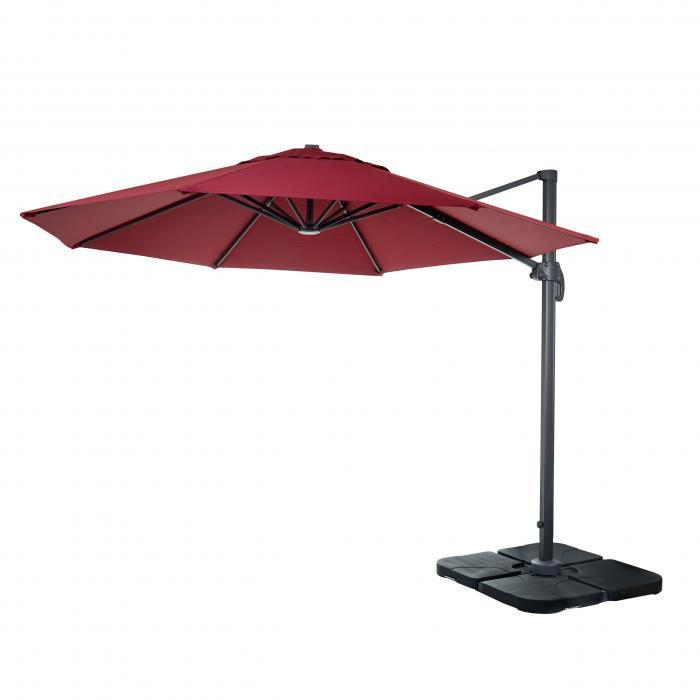 gastronomie luxus ampelschirm sonnenschirm n22 3m bordeaux mit st nder drehbar. Black Bedroom Furniture Sets. Home Design Ideas