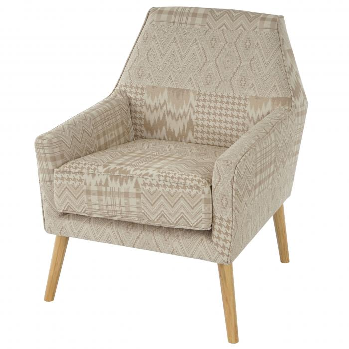 sessel malm t372 loungesessel polstersessel retro 50er jahre design textil beige braun. Black Bedroom Furniture Sets. Home Design Ideas