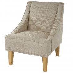 Sessel Malm� T371, Loungesessel Polstersessel, Retro 50er Jahre Design, Textil ~ beige/braun
