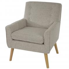 Sessel Malm� T370, Loungesessel Polstersessel, Retro 50er Jahre Design, Textil ~ grau