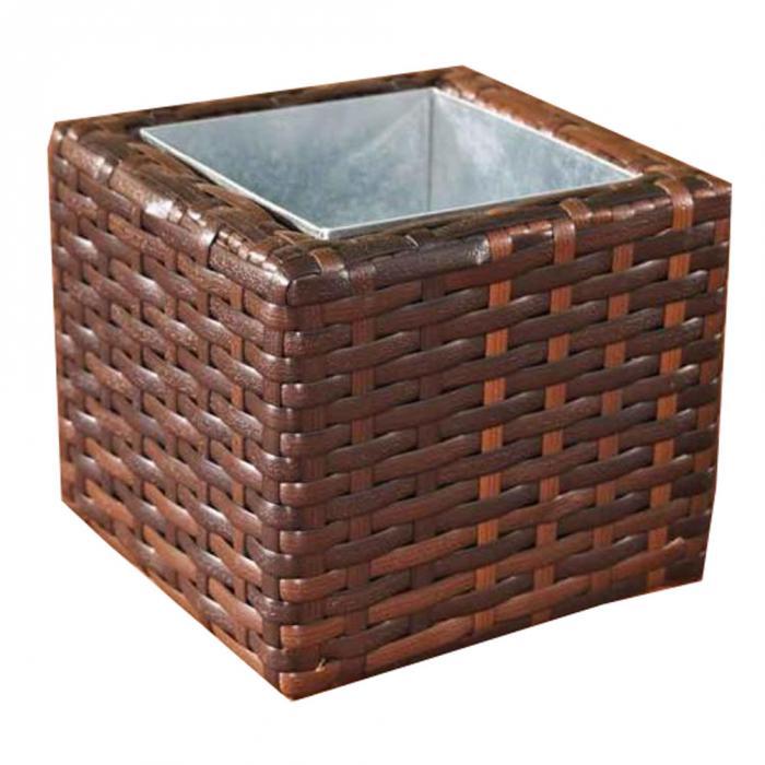 poly rattan blumenk bel cp001 blumentopf 17x20x20 cm. Black Bedroom Furniture Sets. Home Design Ideas