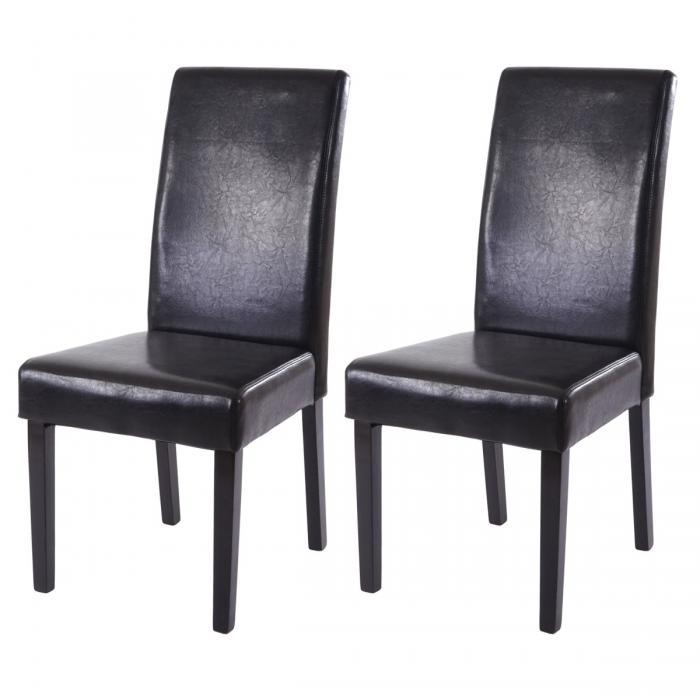 2x esszimmerstuhl t378 xl stuhl lehnstuhl kunstleder schwarz dunkle beine. Black Bedroom Furniture Sets. Home Design Ideas