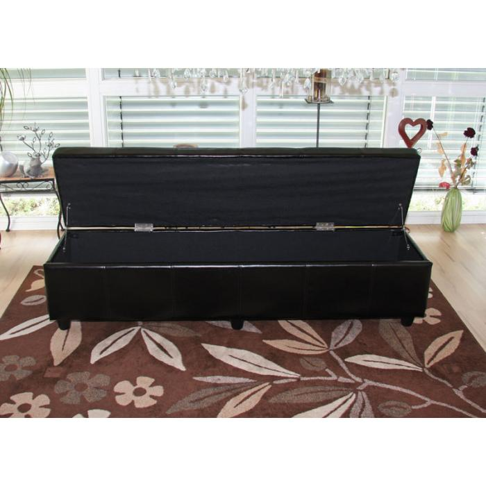 bank sitzbank mit aufbewahrung kriens xxl leder. Black Bedroom Furniture Sets. Home Design Ideas