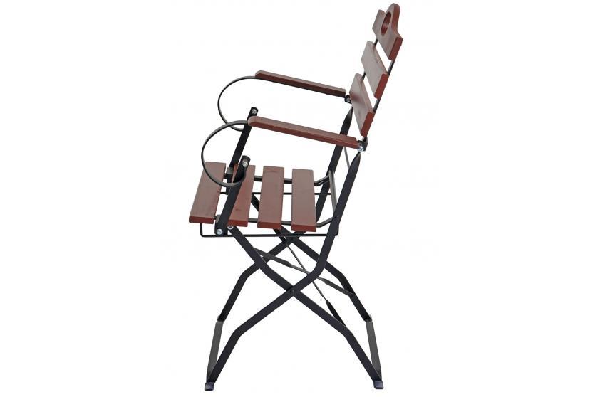 4x biergartenstuhl wien klappstuhl gartenstuhl akazie ge lt braun. Black Bedroom Furniture Sets. Home Design Ideas