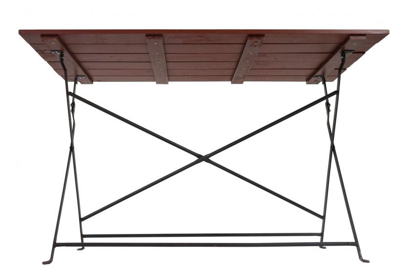 biergartentisch wien akazie ge lt 75x120x60cm braun klapptisch gartentisch ebay. Black Bedroom Furniture Sets. Home Design Ideas