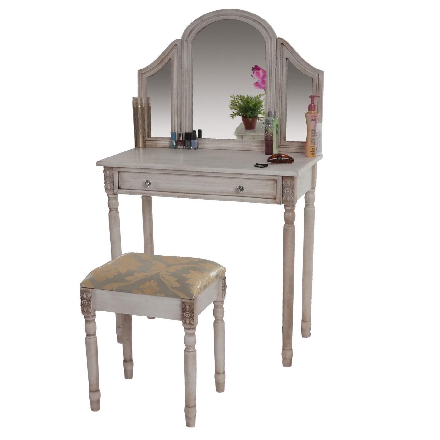 schminktisch gela frisiertisch mit hocker kosmetiktisch. Black Bedroom Furniture Sets. Home Design Ideas