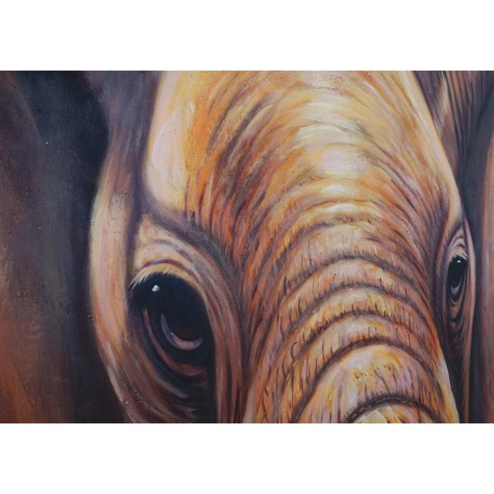 lgem lde nahaufnahme elefant 100 handgemaltes wandbild. Black Bedroom Furniture Sets. Home Design Ideas