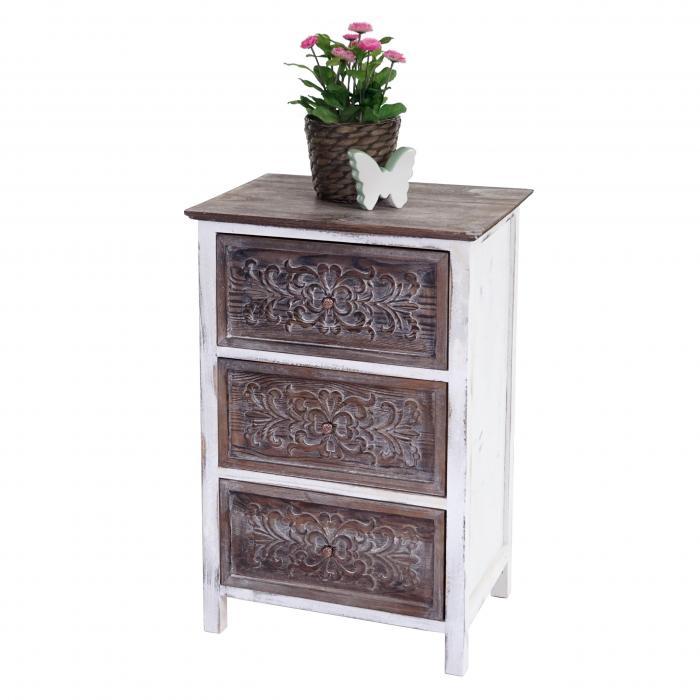 kommode galway schubladenkommode schrank shabby look vintage 67x45x34cm. Black Bedroom Furniture Sets. Home Design Ideas