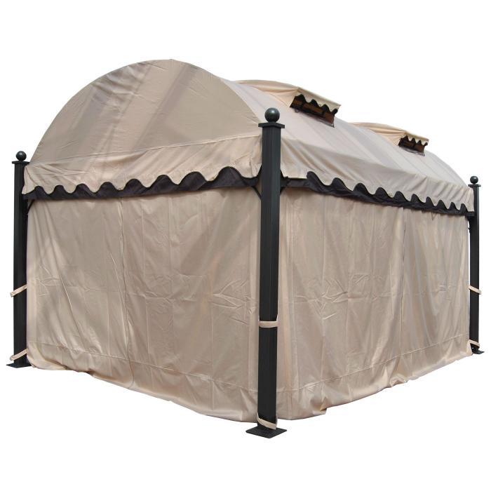 pergola daroca garten pavillon 10cm luxus alu gestell. Black Bedroom Furniture Sets. Home Design Ideas