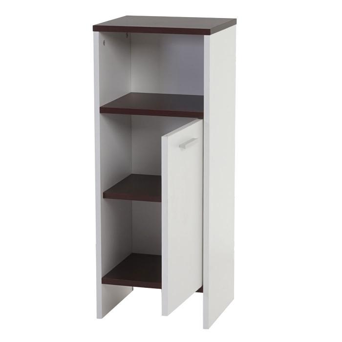 kommode arezzo badezimmerkommode badschrank 82x32x28cm wei b den braun. Black Bedroom Furniture Sets. Home Design Ideas
