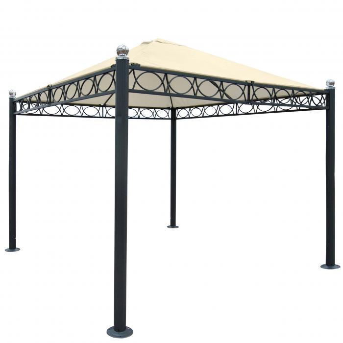 pergola belagua garten pavillon stabiles 10cm luxus alu gestell 3x3m ohne seitenwand. Black Bedroom Furniture Sets. Home Design Ideas