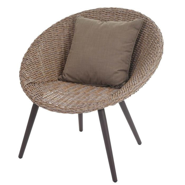 luxus poly rattan garnitur madrid premium lounge set gartengarnitur alu gestell braun. Black Bedroom Furniture Sets. Home Design Ideas