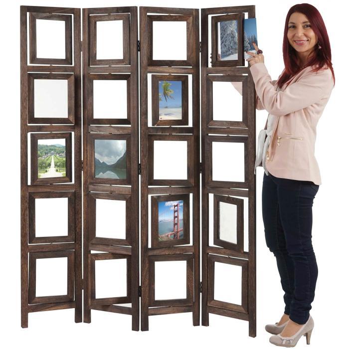 paravent fotogalerie ii raumteiler trennwand sichtschutz foto paravent 160x125cm braun. Black Bedroom Furniture Sets. Home Design Ideas