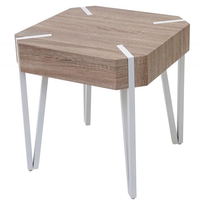 couchtisch kos t574 beistelltisch fsc 52x50x50cm eiche. Black Bedroom Furniture Sets. Home Design Ideas