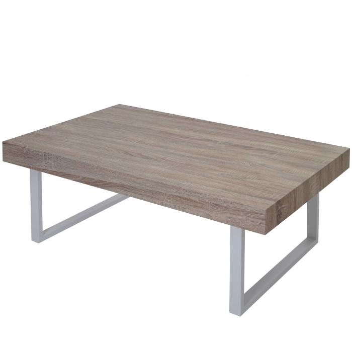 couchtisch kos t576 wohnzimmertisch fsc 40x110x60cm eiche helle metall f e. Black Bedroom Furniture Sets. Home Design Ideas