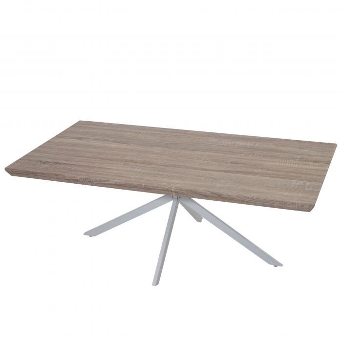 couchtisch kos t577 wohnzimmertisch fsc 40x110x60cm eiche helle metall f e. Black Bedroom Furniture Sets. Home Design Ideas