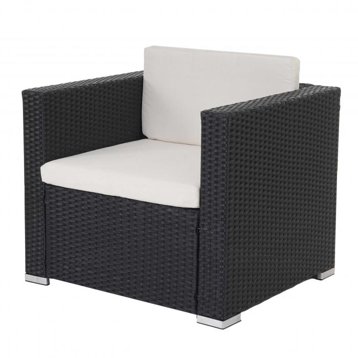 modulares poly rattan sofa rom basic sessel 75x80x71cm anthrazit. Black Bedroom Furniture Sets. Home Design Ideas