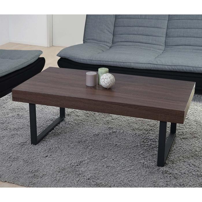 couchtisch kos t576 wohnzimmertisch 40x110x60cm fsc zertifiziert braune eiche dunkle. Black Bedroom Furniture Sets. Home Design Ideas