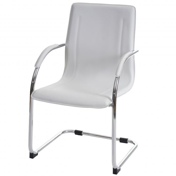 2x konferenzstuhl samara besucherstuhl freischwinger pvc wei. Black Bedroom Furniture Sets. Home Design Ideas