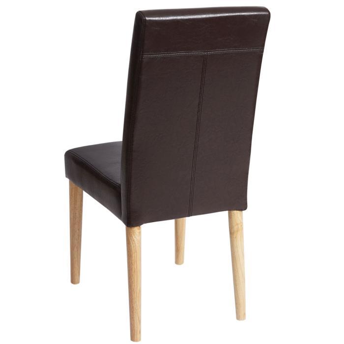 2x esszimmerstuhl leslau stuhl lehnstuhl kunstleder. Black Bedroom Furniture Sets. Home Design Ideas