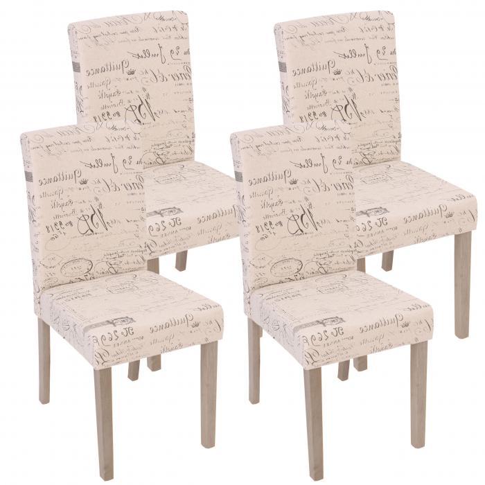 4x esszimmerstuhl littau stuhl lehnstuhl textil mit for Stuhl 4 beine