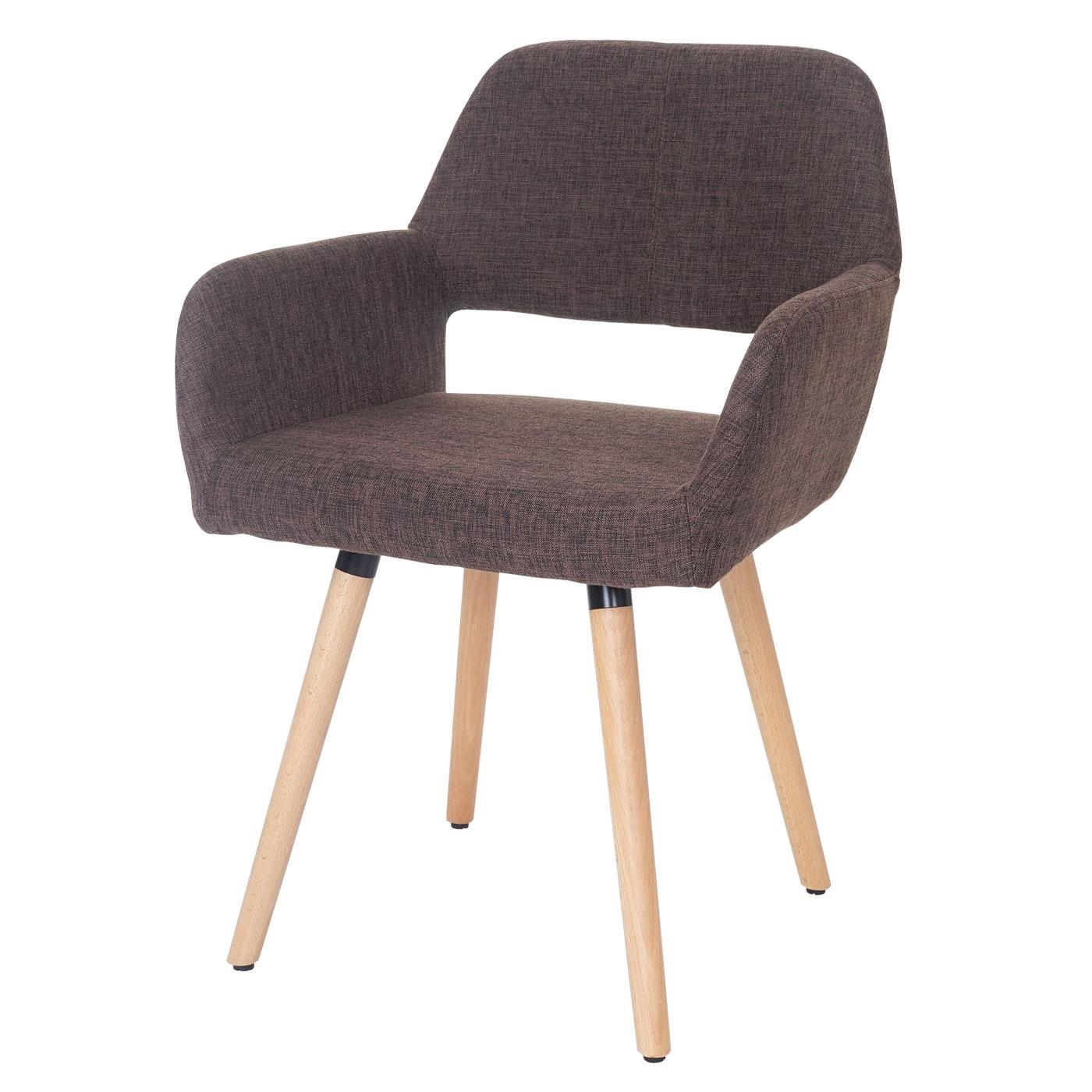 esszimmerstuhl dohna ii retro design textil braun. Black Bedroom Furniture Sets. Home Design Ideas