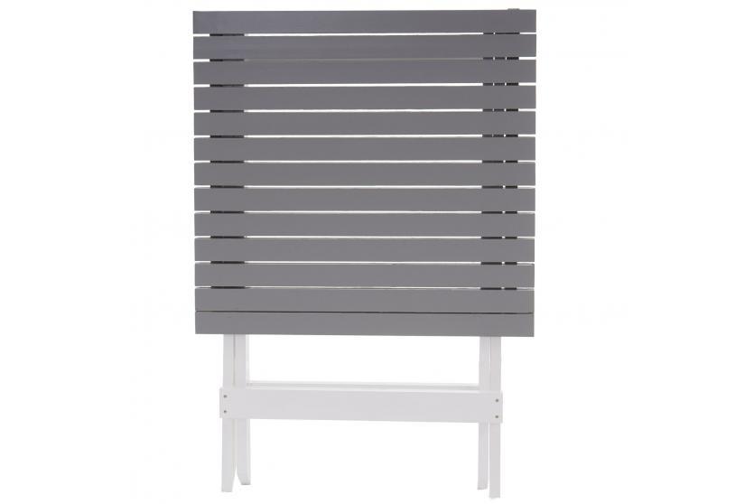 garten garnitur feldkirch holz wei grau lackiert klappbar ebay. Black Bedroom Furniture Sets. Home Design Ideas