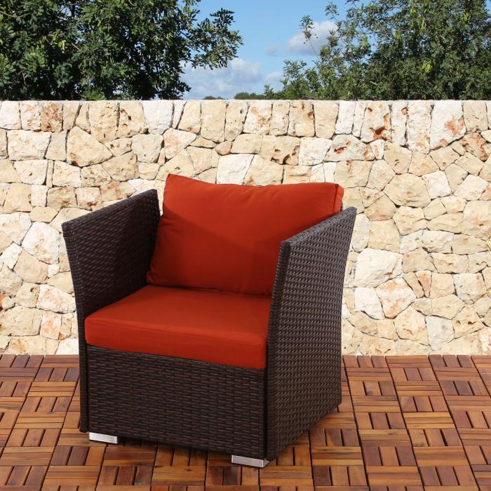 sitz und r ckenkissen f r poly rattan sofa siena modulare gastronomie qualit t bordeaux. Black Bedroom Furniture Sets. Home Design Ideas