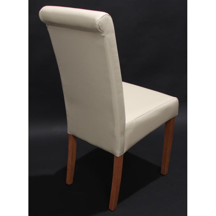 2x esszimmerstuhl stuhl lehnstuhl novara ii leder creme helle beine. Black Bedroom Furniture Sets. Home Design Ideas