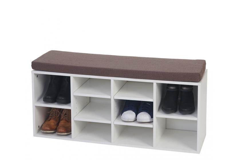 sitzbank brisbane schuhschrank regal sitzkissen 49x104x29cm ebay. Black Bedroom Furniture Sets. Home Design Ideas