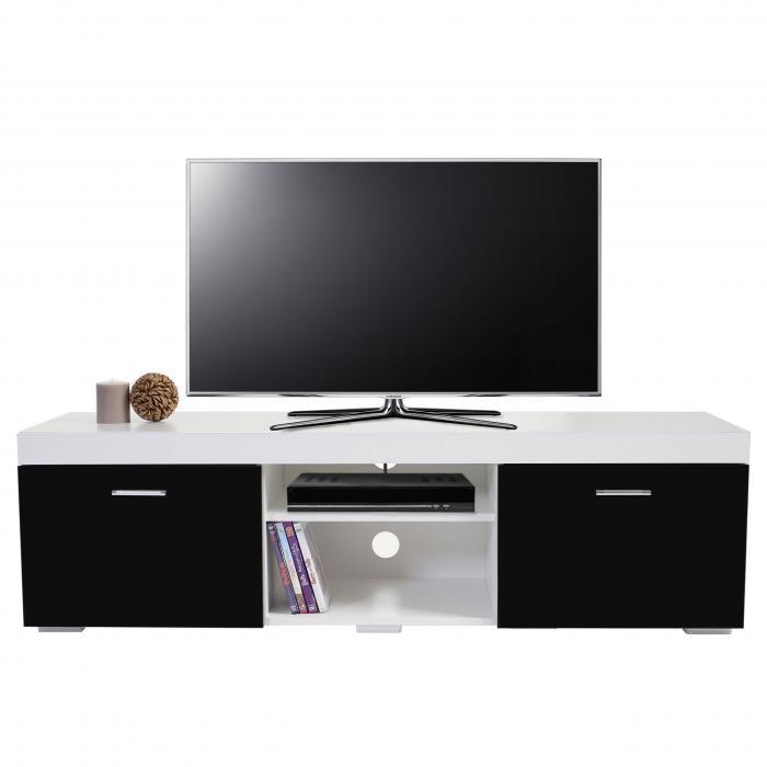 tv rack portland fernsehtisch lowboard hochglanz. Black Bedroom Furniture Sets. Home Design Ideas