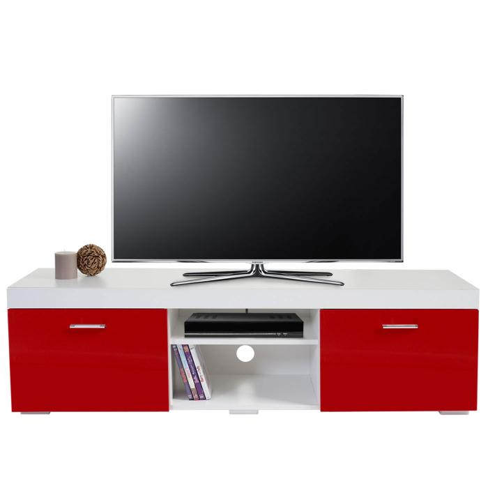tv rack portland fernsehtisch lowboard hochglanz. Black Bedroom Furniture Sets. Home Design Ideas