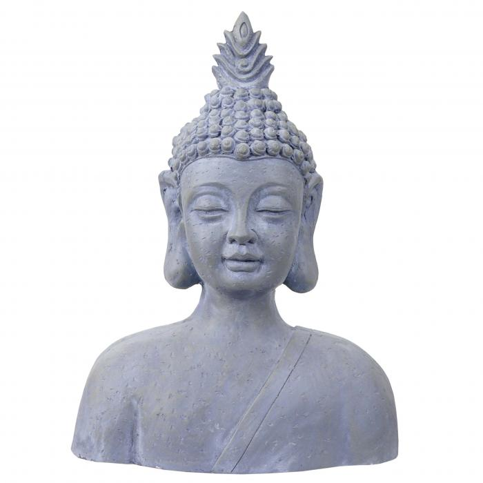 xxl deko figur buddha 60cm polyresin skulptur b ste in outdoor. Black Bedroom Furniture Sets. Home Design Ideas