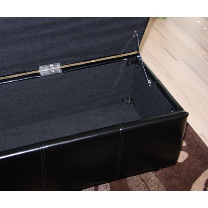 bank sitzbank mit aufbewahrung kriens xxl leder. Black Bedroom Furniture Sets. Home Design Ideas