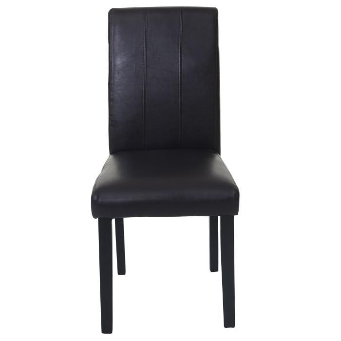 2x esszimmerstuhl florina stuhl lehnstuhl kunstleder. Black Bedroom Furniture Sets. Home Design Ideas